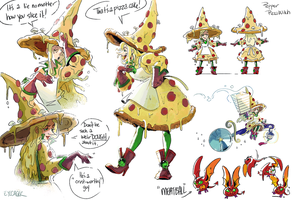 Pizza Witch by Eyecager