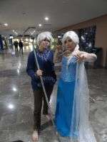 Jack Frost and Elsa Cosplay by brandonale