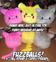 Fuzzballs Plushie Sneak Peek by StudioNeko