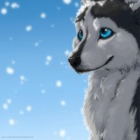 Snow eyes by ArtemisA-wolf