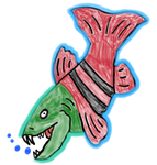 Saber-Toothed Salmon (Oncorhynchus rastrosus) by TuxedoToad