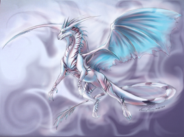 (Commission) Garjzla the Ice Dragon by Nuzma