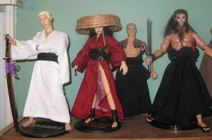 Samurai Shelf of 'Bad Guys' by A-J-M-74