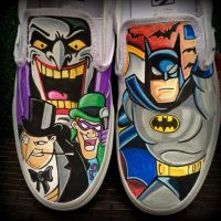 Batman Custom Vans by VeryBadThing
