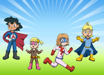 Ash and Co Heros by Kat-Skittychu
