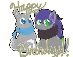 Happy bday you two 8D by BeLeaf