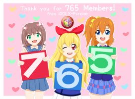 Sankyuu 765 Members! by BluesodaMania