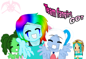 MH: Team Fangirl GO by KPenDragon