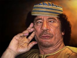 KADHAFI by Algalad