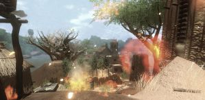 Far Cry 2 Small Ville on Fire by Rasvashed
