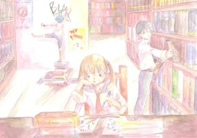 At the library by 3-Keiko-chan-3