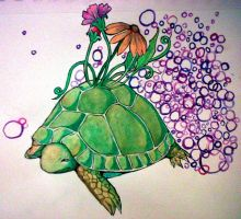 TurtleFlower by ImagineArtVibes