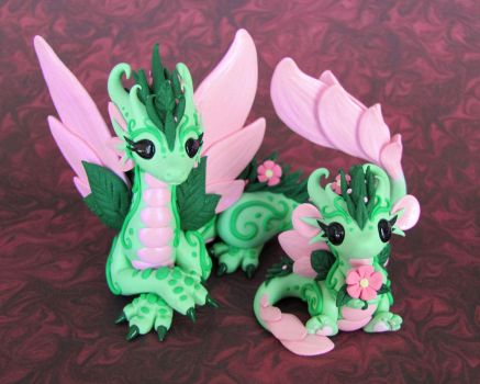 Flower Dragons 2 by DragonsAndBeasties