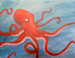 Octopus Painting by angelarcanine