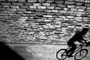 Shadow cyclist by gregkalamp