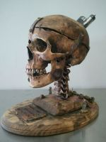 Steampunk skull by demskicreations