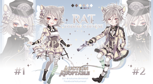 [OPEN] Adoptable Zodiac Chinese #1: Rat by Katzyrine