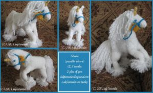 -Knitting-Tiberius the Unicorn by LadyTemeraire