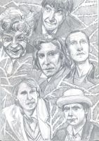 Eleven Doctors Diptych 1 by theterriblezodin