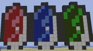 Minecraft Art: ALttP Rupees Together by GodofDarness18