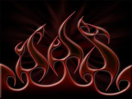 Flames RednBlack by DigitalPhenom