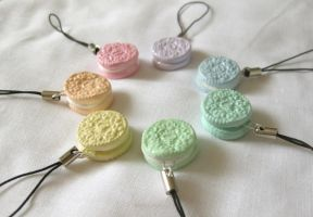 Pastel Oreo Cell Phone Straps by DarkFireRaven