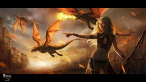 Mother of Dragons by JustaBlink