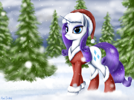 Rarity Xmas by Pony-Stark