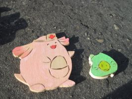 Chansey Heals the Pig by MagicalMegumi