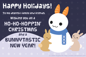 2009 Christmas card by xraiko
