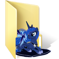 Princess Luna Folder Icon by AlicornBob