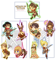 +Attack on Titan Keychains+ by Pasuteru-Usagi