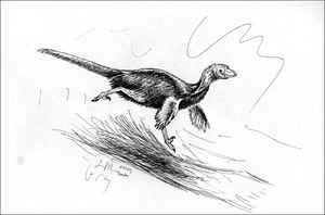 The Running Troodon Ratite by WhiskerfaceRumpel