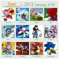 2013 Summary of Art by JemiDove