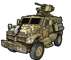 21st Recon post-apocalyptic Truck by RalphGermaniac