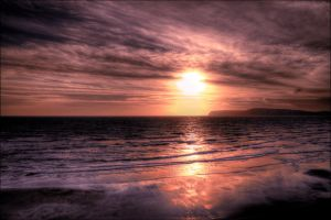 Sunset at Compton Bay by Tangent101