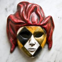 Harlequin mask stock by JanneO
