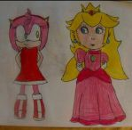 Amy and Peach by TheOneAndOnlyCactus