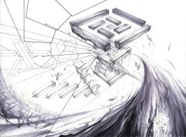 Architecture Compositional Drawing 02 by RoboNATION