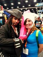 Fionna and Captin Jack Sparrow cosplay by chaiiro03
