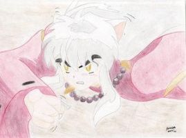 Inuyasha coloredPencil By: DDW by YoukiClub