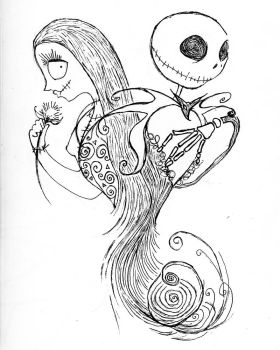 jack and sally by Shinkami
