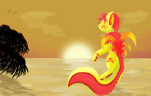 As the sun sets by o-Pirate-o