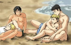SNK (Modern! AU) - At the beach by Hanatsuki89