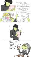 Murdoc reads manga by irsaona