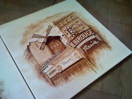 Moulin Rouge - coffee paint by LucaDeBoa