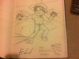 Eli the Platinum Angel (Sketch) by cmr-1990