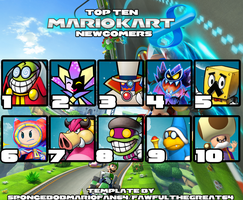 My Top Ten Mario Kart 8 Wanted Newcomers by Fawfulthegreat64