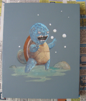 Squirtle Process Shot for Triptych by jbyrd117