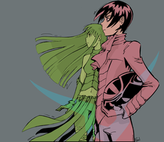 Lelouch and C.C. by Leloucha